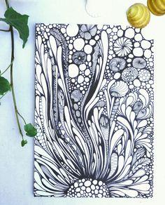 Abstract Line Art Zentangle Doodles Ideas For 2019 Doodle Art Drawing, Zentangle Drawings, Zentangle Patterns, Art Drawings, Zentangles, Dibujos Zentangle Art, Mandala Art Lesson, Abstract Line Art, Wow Art