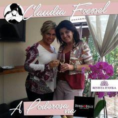 A Poderosa Claudia Foessel curtindo momentos deliciosos na Donna Dolce ela ainda provou vários looks incríveis e adorou todos!