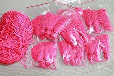 Mini tassel 100pcs Wholesale Tassel Chunky Tassel Hot pink Jewelry Making DIY Craft Supplies Fringe TTassel