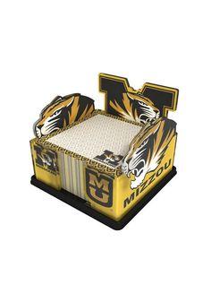 Missouri Tigers Note Pad Holder http://www.rallyhouse.com/shop/missouri-tigers-got-yo-gifts-missouri-tigers-note-pad-holder-8835010 $12.99
