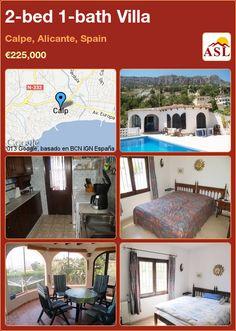 2-bed 1-bath Villa in Calpe, Alicante, Spain ►€225,000 #PropertyForSaleInSpain