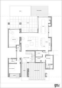 Imagem 13 de 16 da galeria de Casa CKN / Giugliani Montero Arquitetos. Planta 1