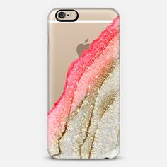 FLAWLESS CORAL & FAUX GOLD  by Monika Strigel iPhone 6 - Classic Snap Case