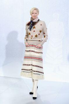 Tilda Swinton | Chanel Front Row | Haute Couture Week 2014