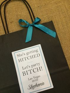 Las Vegas Bachelorette Party Hotel Guest Bag Destination by absolutelyeva
