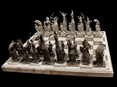 Today we would like to show you demo version of first Chess set by our design. This one is inspired by Greek mythology but in mind we have whole range of highly detailed chess boards and pieces including fantasy, historical and sci-fi theme. We would like to know what do you think of that idea and what kind of chess set you would like to see on your shelf.  #Puppetswar #chess #resin #miniatures #board #game