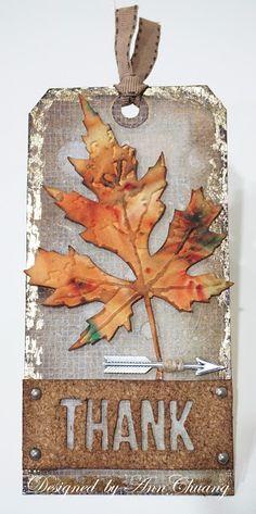 Ann's Cardmaking Garden: Tim Holtz 12 tags of 2015 - november THANK