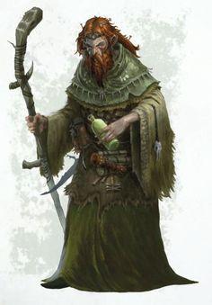 m Druid lvl Lt Armor Robes Staff Potion Scrolls Dagger Warhammer lg High Fantasy, Fantasy Rpg, Medieval Fantasy, Fantasy Artwork, Dungeons And Dragons Characters, Fantasy Characters, Character Inspiration, Character Art, Character Portraits