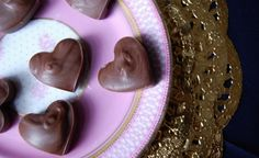 Cherry chocolate hearts  #confectionery #chocolate #valentines treats #food photography