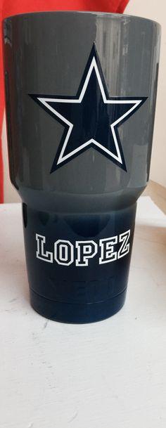 Dallas Cowboys gray to blue fade 30oz Yeti cup Lonestar Concepts & Design lonestarjess15@yahoo.com