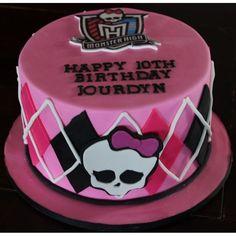 Monster High Cake Cakes For Girls Bolo Monster High, Monster High Cupcakes, Monster High Birthday Cake, Monster High Party, Cupcake Birthday Cake, Birthday Cake Decorating, Cupcake Party, Wedding Cupcakes, Mini Cupcakes
