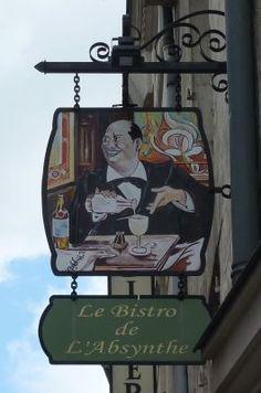 Poitiers, enseigne, 07, le bistrot de l'absinthe rue Carnot