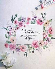 Log in to your Etsy account. Watercolor Hand Lettering, Watercolor Quote, Watercolor Cards, Floral Watercolor, Watercolor Paintings, Watercolor Ideas, Watercolours, Calligraphy Cards, Canvas Painting Tutorials
