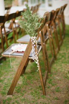 simple chair decor for wedding ceremony