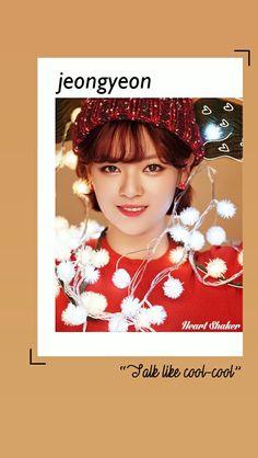 Yoo Jeongyeon || Jeongyeon Twice || Heart Shaker Lockscreen || Twice Wallpaper || Merry and Happy || Kpop Lockscreen