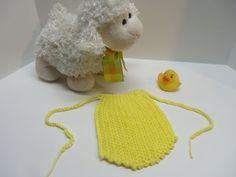 Hand Crocheted Newborn Girl Ascot Bib in by Tinastreasureisland, $6.50