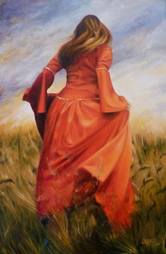 """""""I miss you"""" - Oil painting by Rajasekharan."""