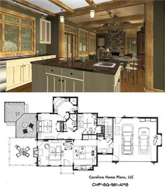 3d House Plans, Small House Plans, Diy Interior Furniture, Box Houses, Tiny Houses, Small Floor Plans, Craftsman Cottage, Sims House, Farmhouse Chic