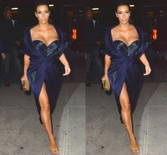 Kim K wore a dress by Russian designer Ulyana Sergeenko.