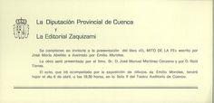 """Presentación del libro """"El mito de la Fe"""" de José María Abellán, ilustrado por Emilio Morales en Cuenca Abril 1995 #Cuenca #Libros #JoseMariaAbellan #EmilioMorales"""