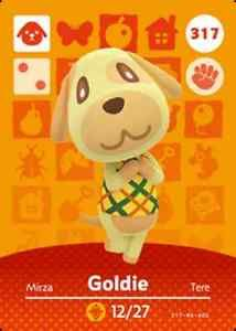 Amiibo-Cards-317-Goldie-Animal-Crossing-Series-4-NA-NEW-SERIES