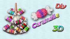 Caramelle 3D con Elastici Rainbow Loom~Candy Charm Tutorial ♥