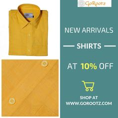 Online Shipping - Select from New Collection Casual Shirts for Men available at GoRootz.com. Shop for latest designs in Casual Shirts for Men. https://www.gorootz.com/new-arrivals