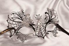 Luxury Venetian Filigree Metal Masquerade Mask - Ragnatela £51.97