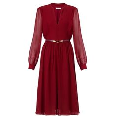 Whistles Sofie Rae Dress, Burgundy (135 AUD) found on Polyvore