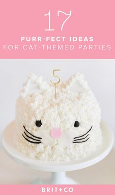 Creative Picture of Birthday Cake Cat . Birthday Cake Cat How To Throw The Purr Fect Kitten Party Childrens Birthday Party Kitty Party, Birthday Cake For Cat, Birthday Party Themes, Birthday Ideas, Animal Birthday, 7th Birthday, Fete Emma, Cat Themed Parties, Party Cakes