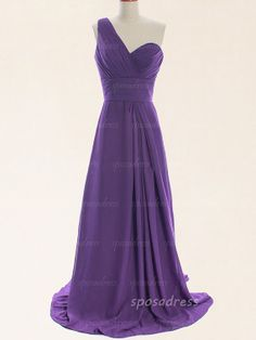 Purple bridesmaid dresses long prom dresses one by sposadress