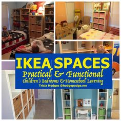 IKEA Homeschool Spaces at Hodgepodge - for girls and boys. Practical and functional!