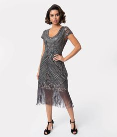 A Great Gatsby prom night begins with the perfect inspired dress. Shop the best vintage style Great Gatsby theme prom dresses, shoes, headbands, etc 1920s Bridesmaid Dresses, Great Gatsby Prom Dresses, 1920s Cocktail Dresses, 1920s Party Dresses, 1920s Inspired Dresses, Cocktail Dresses With Sleeves, V Neck Cocktail Dress, Prom Dresses For Sale, Unique Dresses