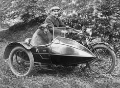Some sheep even got to ride in sidecars.