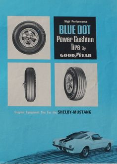 1965 Ford Mustang Gt 500 Shelby Prototype Blue Dot Brochure