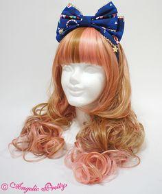 Angelic Pretty - Fantasy Theater Head Bow - 2014 - Blue