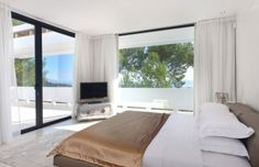 Modern sea view villa in Sant Josep, Ibiza, Spain.