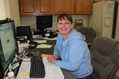 The office, where we make all your dreams come true! Here is Ramona waiting for your phone call :-)