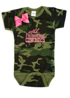 Hunting Cowboys With Bow - Camo - Camouflage Baby Girls Clothing | All That Sass Boutique http://www.allthatsassboutique.com/collections/retail/products/hunting-cowboys-with-bow