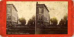 We have recently acquired several stereoview cards and a viewer. Here is a view of the old Opera House. The first recorded theater in the Portsmouth area was Wilhelm's Opera House. Opening 1878, the early theater was a stage type. It was located on 4th and Court Streets.
