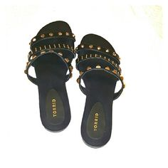 Studded Slippers From Torrid, Size 13 Studded open back sandals from Torrid, Size 13. Medium width TO Wide (W) width fit. Worn once, in great condition!  Too narrow for my foot (WW). Submit an offer. torrid Shoes Slippers