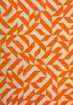 Originally designed in 1974 as an upholstery pattern, Anni Albers' Eclat, was first produced printed on a cotton/ linen ground in various scales and color combinations.