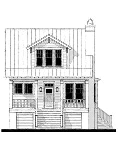 Southern Style House Plan 73948 with 1801 Sq Ft , 3 Bed , 2 Bath , 1 Half Bath Small House Floor Plans, Beach House Plans, Southern House Plans, New House Plans, Elevated House Plans, Bath Pictures, Cottage Plan, Cottage House, Cottage Living