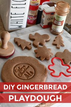 Looking for a fun activity to do with the kiddos this holiday season? Make this soft gingerbread playdough in minutes with just a few simple ingredients! #playdoh #dough #gingerbread #kidscraft #christmas #playdough #holidayactivity #artscrafts