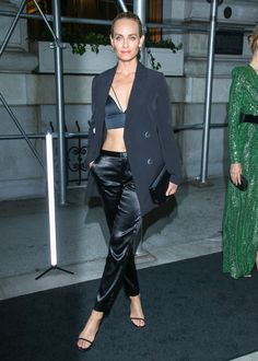 Amber Valletta, Pants Outfit, Leather Pants, Outfits, Black, Style, Fashion, Leather Jogger Pants, Swag