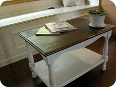 Love the two-toned coffee table.  I need to do this!