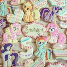 My Little Pony birthday cookies by Sifts and Giggles Perfect for a birthday party dessert table