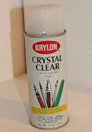Spray clear acrylic to prevent glitter falls