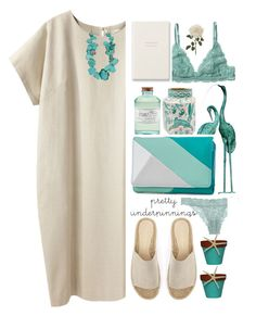 """""""1915"""" by mykatty091 ❤ liked on Polyvore featuring Monki, Library of Flowers, Cosabella, La Garçonne Moderne, Fountain, New Directions, Mint Velvet, Smythson, polyvorecontest and prettyunderpinnings"""