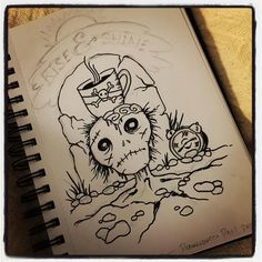 Day 1 Drawlloween! Theme: Return from the Dead . . . #drawlloween #sketch #draw #artist #horrorart #spoopy #earthenwood #creepy #creepycute #deadthings #horror #spooky #horrornerd #drawing #sketching #sketchbook #ink #zombie #coffeeaddict #riseandshine #coffee #caffeine